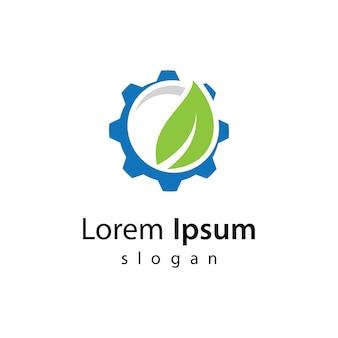 Ilustração de design de logotipo eco tech