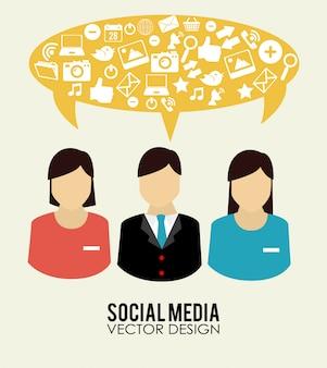 Ilustração de design de mídia social