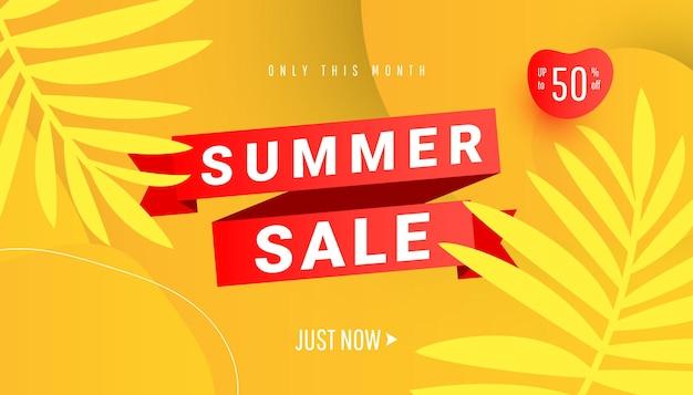 Ilustração de design de modelo de banner de venda de verão