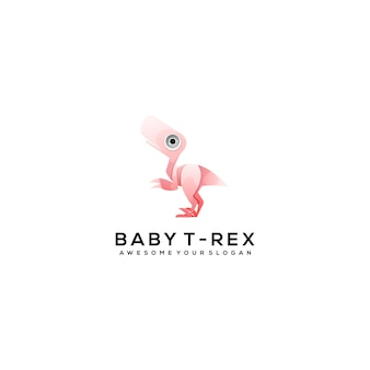 Ilustração de design de modelo de logotipo de dinossauro