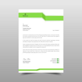 Ilustração de design de modelo de papel timbrado mínimo comercial