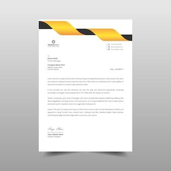 Ilustração de design de modelo laranja de papel timbrado empresarial