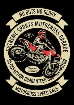 Ilustração de design de motocross