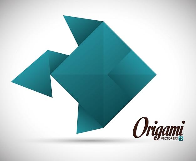 Ilustração de design de origami
