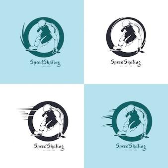 Ilustração de design de patinação, silhueta de patinação