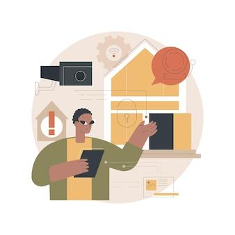 Ilustração de design de sistemas de segurança