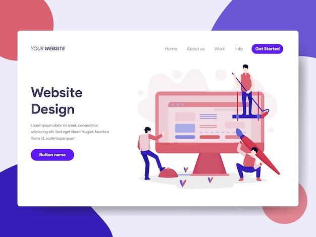 Ilustração de design do site