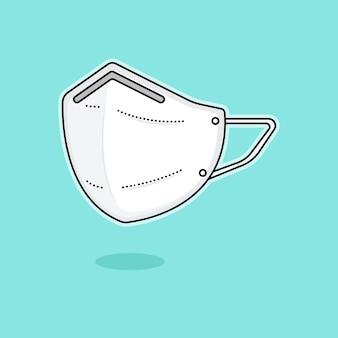Ilustração de design plano de máscara médica
