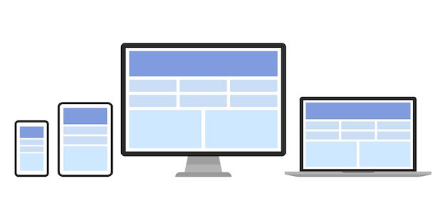 Ilustração de design web do conjunto de dispositivo.