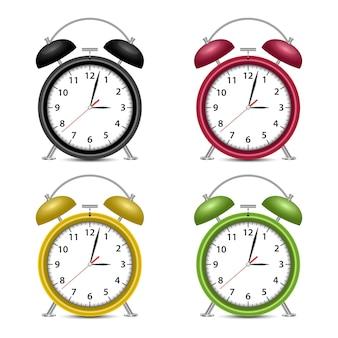 Ilustração de despertador em fundo branco