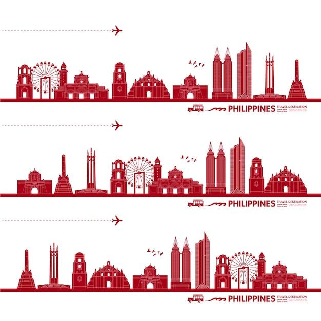 Ilustração de destino de viagem de filipinas.