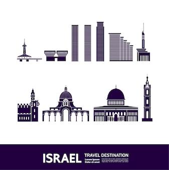 Ilustração de destino de viagem de israel.