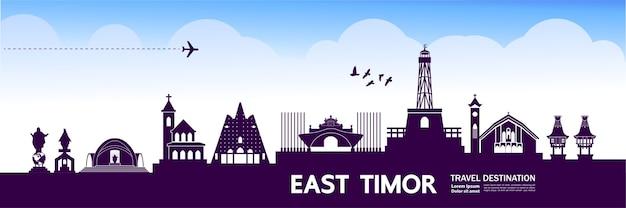 Ilustração de destino de viagem de timor leste.