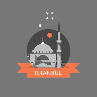 Ilustração de destino de viagem na turquia