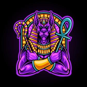 Ilustração de deus de anubis