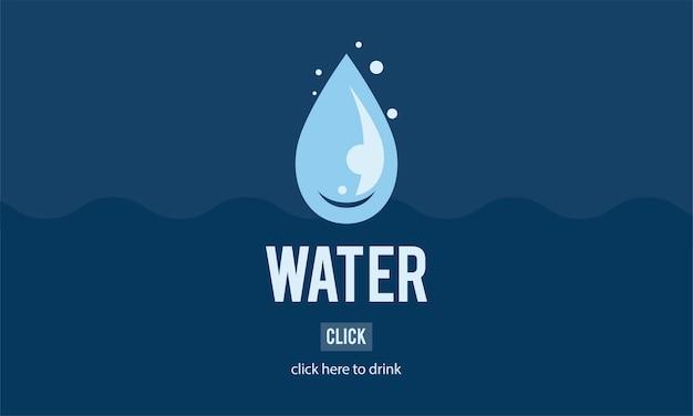 Ilustração, de, dia água