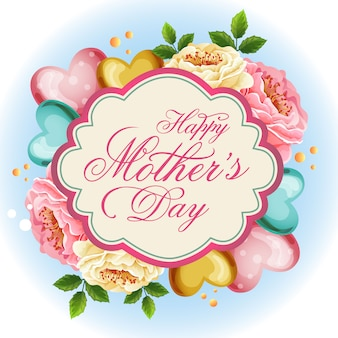 Ilustração de dia das mães lindo amor floral