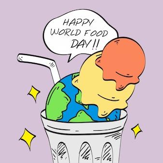 Ilustração de dia de comida do mundo