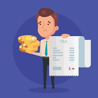 Ilustração de dia fiscal com empresário
