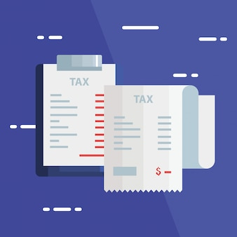 Ilustração de dia fiscal com papel de voucher