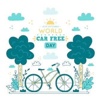Ilustração de dia livre de carro mundial