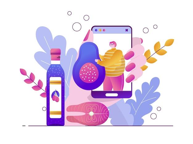 Ilustração de dieta ceto