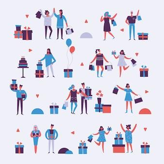 Ilustração de diferentes atividades pessoas