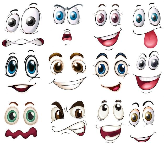 Ilustração de diferentes expressões