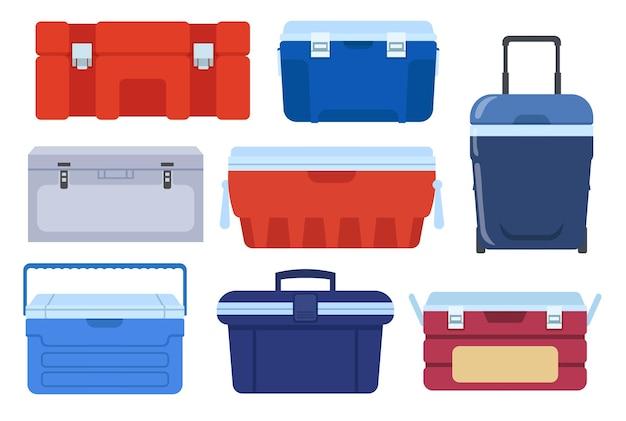 Ilustração de diferentes geladeiras