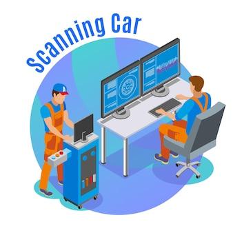 Ilustração de digitalização automática