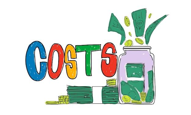 Ilustração, de, dinheiro, poupanças