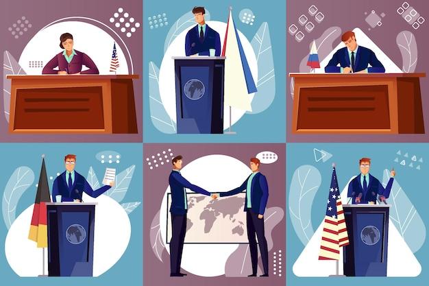 Ilustração de diplomacia