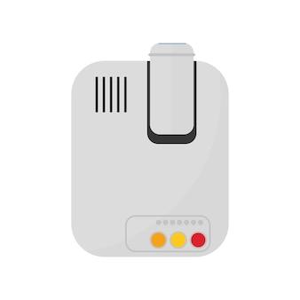 Ilustração, de, dispositivo, isolado