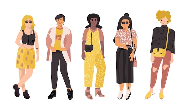 Ilustração de diversas mulheres