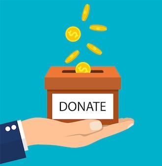 Ilustração de doação