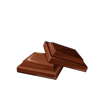 Ilustração de doces de chocolate para confeitaria de design de anúncio