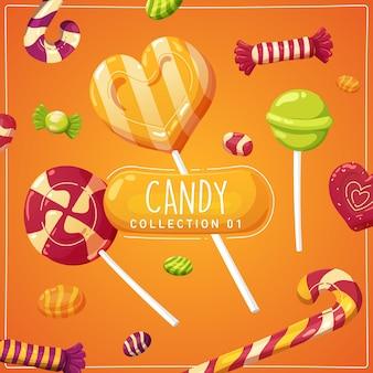 Ilustração de doces de halloween para crianças