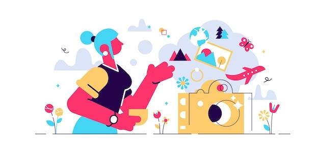 Ilustração de doces memórias