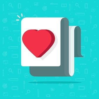 Ilustração de documento médico de saúde, ideia de carta de coração de amor, imagem de conceito de desejo