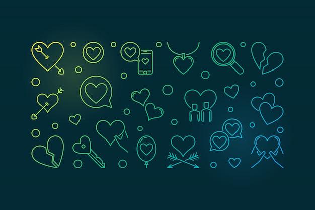 Ilustração de doença de amor