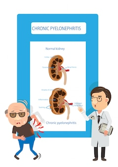 Ilustração de doença renal crônica