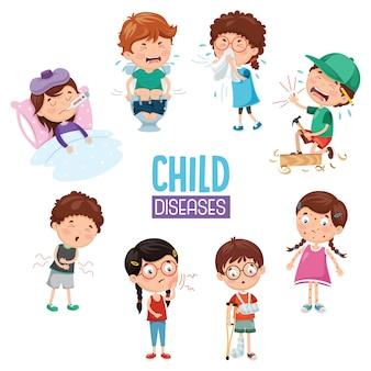 Ilustração de doenças infantis