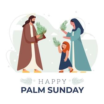 Ilustração de domingo de palma