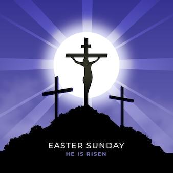 Ilustração de domingo de páscoa