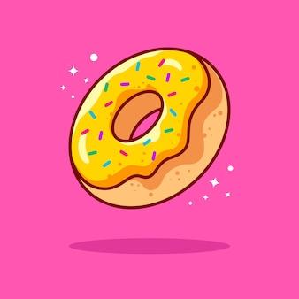 Ilustração de donut com contorno