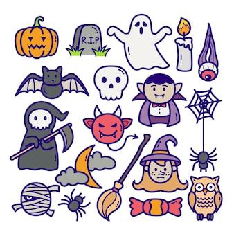 Ilustração de doodle de halloween