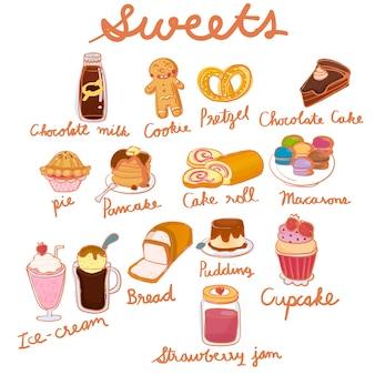 Ilustração de doodle doce