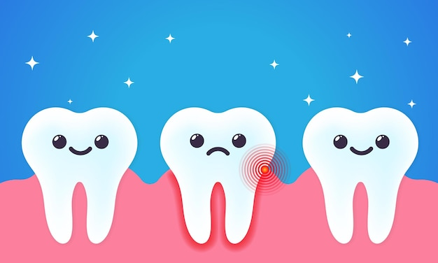 Ilustração de dor de dente