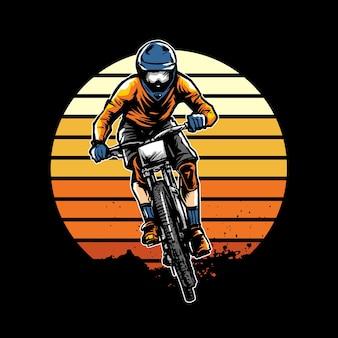 Ilustração de downhill bike