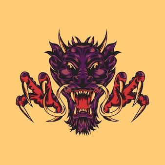 Ilustração de dragão bravo